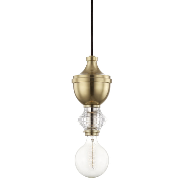 Mitzi H201701-AGB Elliot One Light Pendant