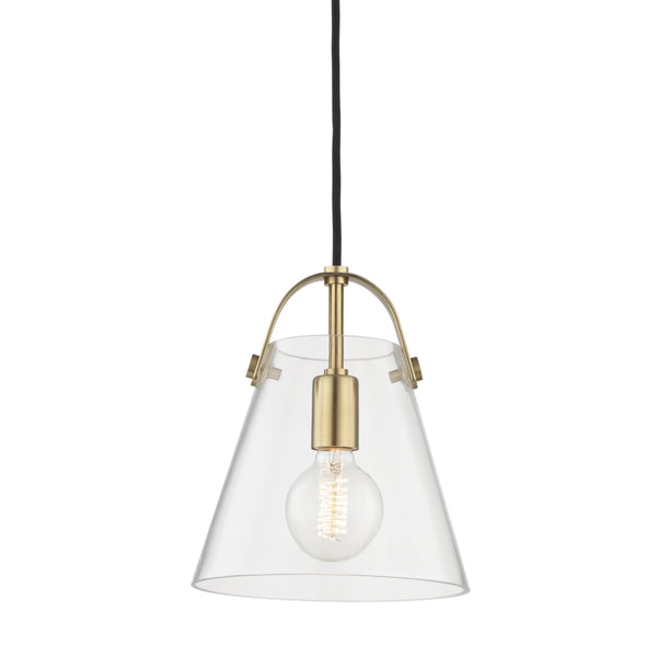 Mitzi H162701S-AGB Karin One Light Pendant