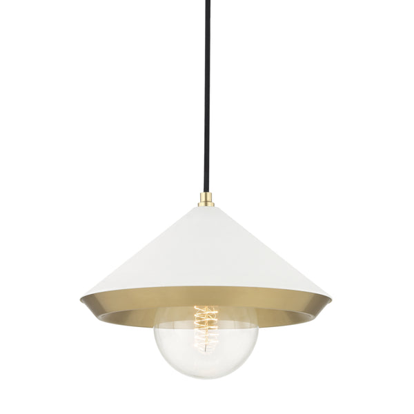 Mitzi H139701L-AGB/WH Marnie One Light Pendant
