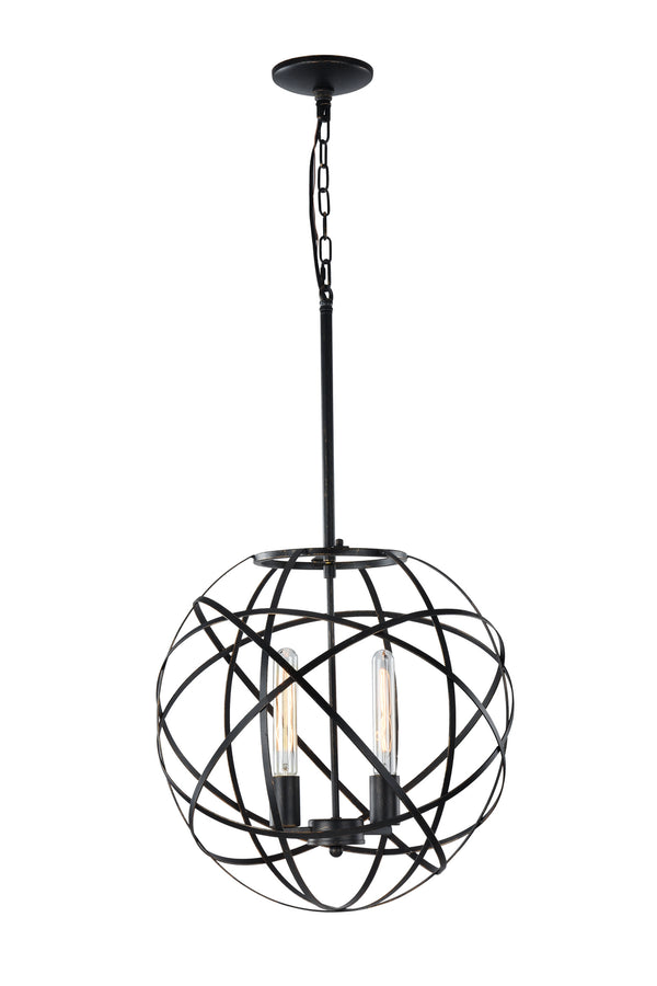 Matteo C57802BK Atom Two Light Pendant
