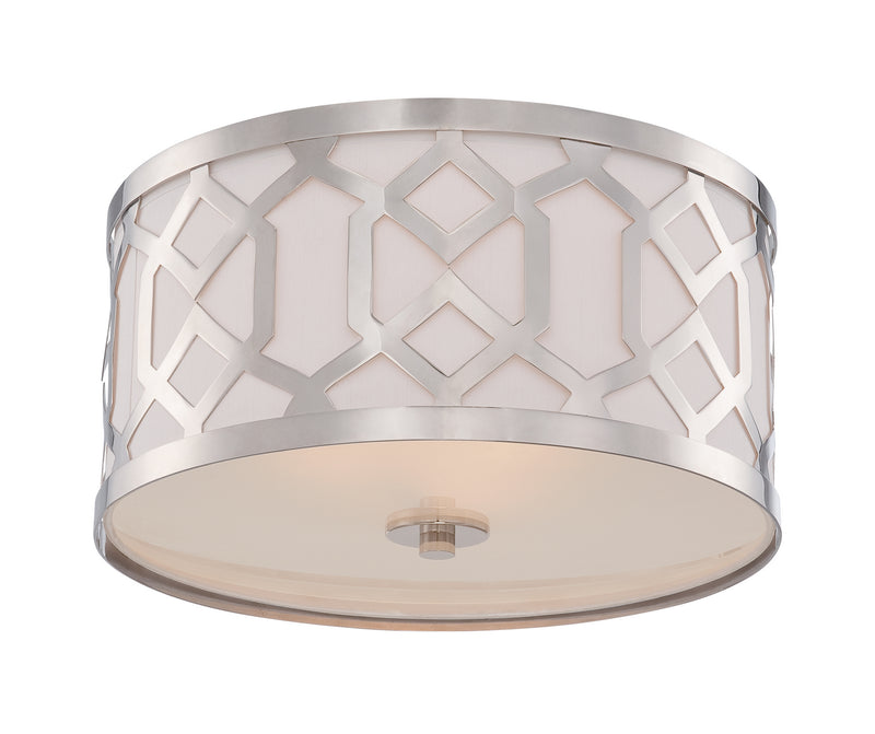 Crystorama 2263-PN Jennings Three Light Ceiling Mount