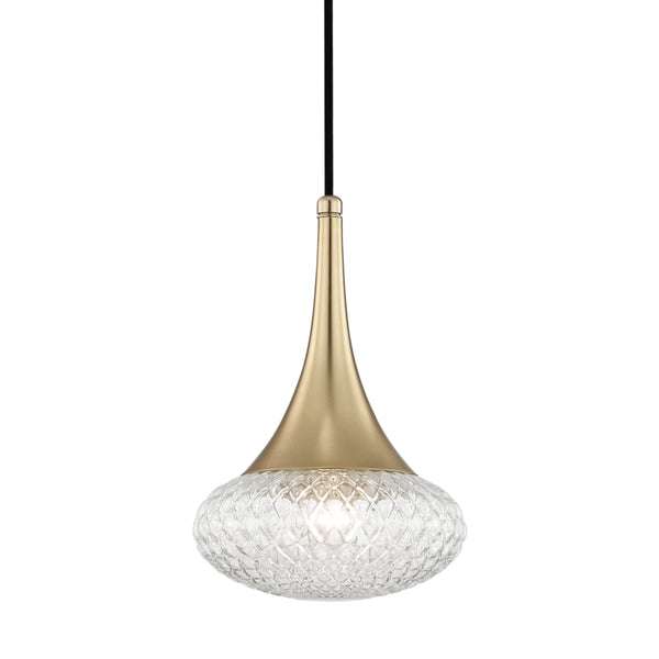 Mitzi H114701C-AGB Bella One Light Pendant