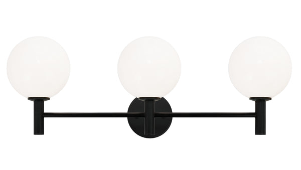 Matteo S06003BKOP Cosmo Three Light Wall Sconce