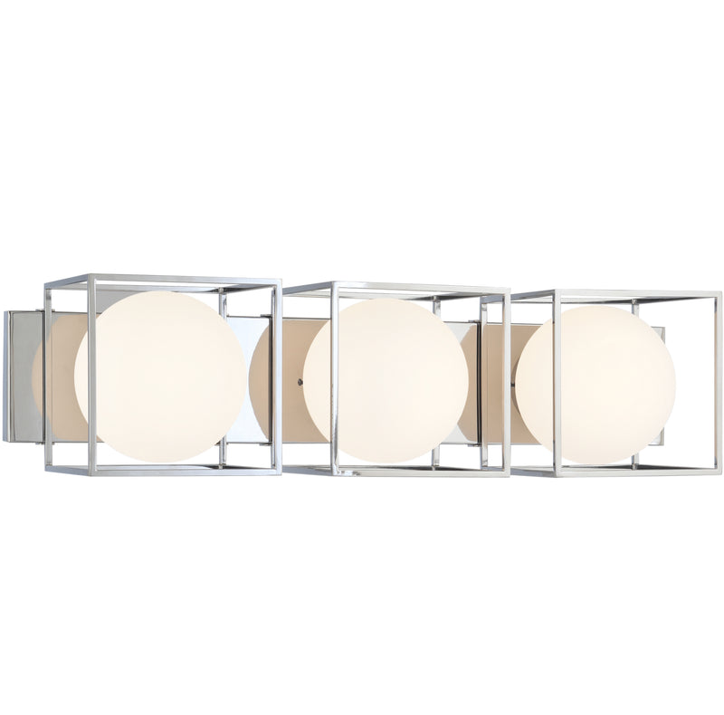 Matteo S03803CH Squircle Three Light Wall Sconce