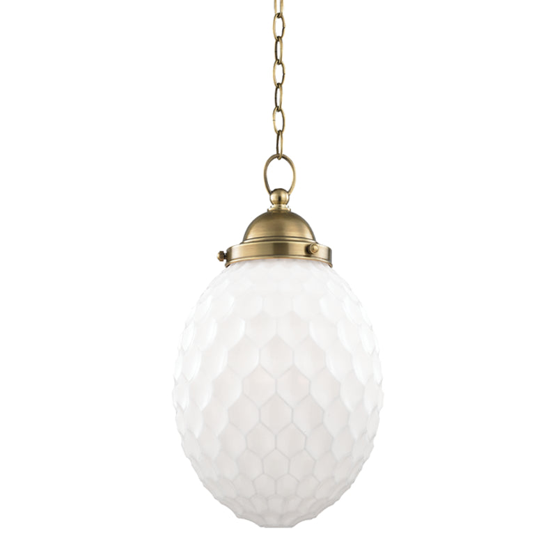 Hudson Valley 3010-AGB Columbia One Light Pendant