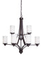 Artcraft AC1309WH Parkdale Nine Light Chandelier