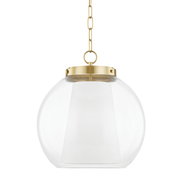 Mitzi H457701L-AGB Sasha One Light Pendant