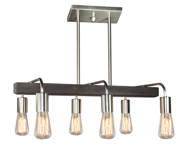 Artcraft AC10456BN Lynwood Six Light Island Pendant
