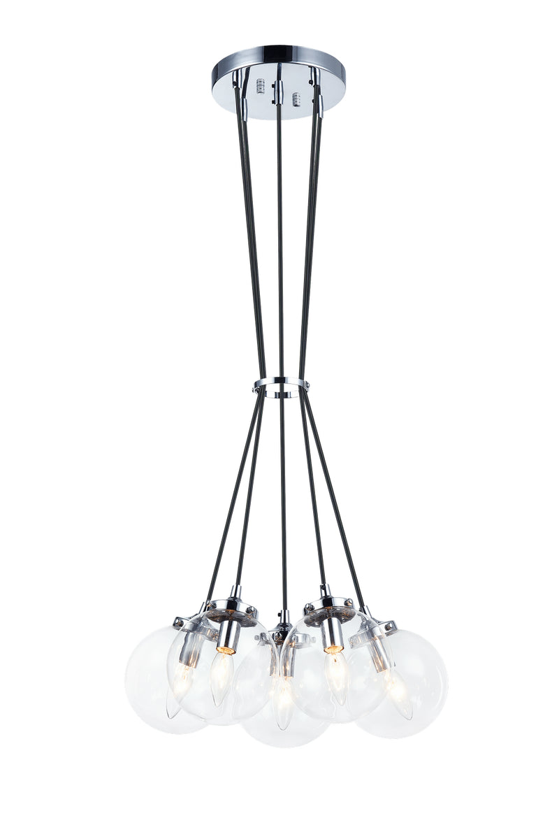 Matteo C63005CHCL The Bougie Five Light Chandelier