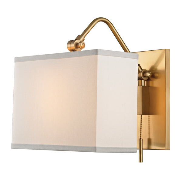 Hudson Valley 5421-AGB Leyden One Light Wall Sconce
