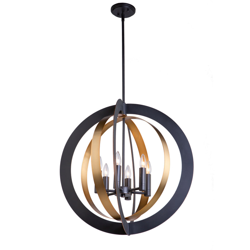 Artcraft AC11236 Capri Six Light Chandelier