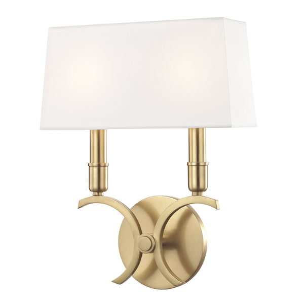 Mitzi H212102S-AGB Gwen Two Light Wall Sconce