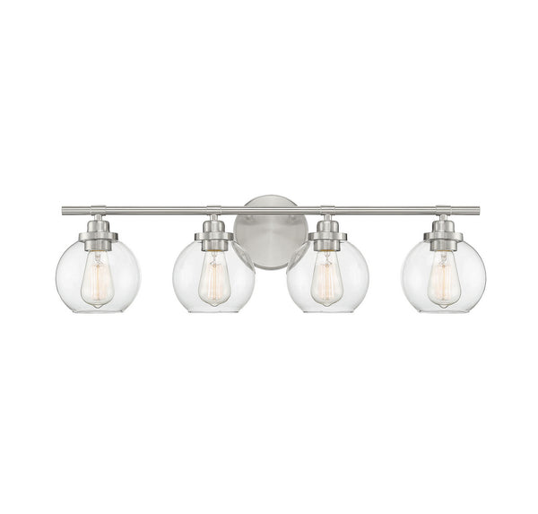 Savoy House 8-4050-4-SN Carson Four Light Bath Bar