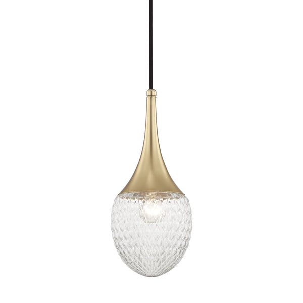 Mitzi H114701A-AGB Bella One Light Pendant