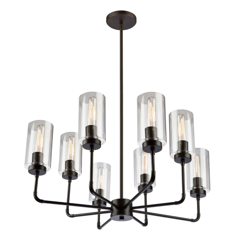 Artcraft SC13138OB Ray Eight Light Chandelier
