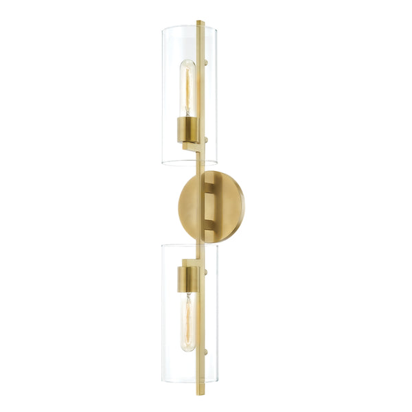 Mitzi H326102-AGB Ariel Two Light Wall Sconce