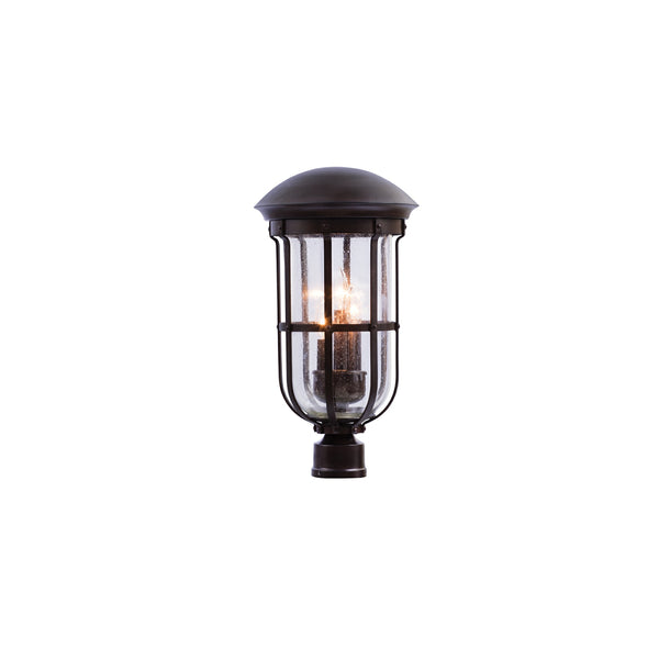 Kalco 404300BB Emerson Outdoor Three Light Post Mount