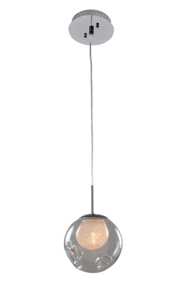 Kalco 309510CH/CLEAR Meteor One Light Mini Pendant