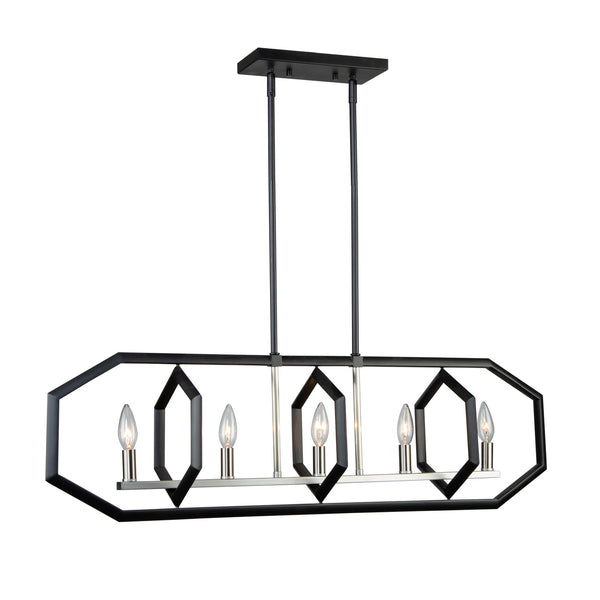 Artcraft AC10995NB Preston Five Light Island Pendant