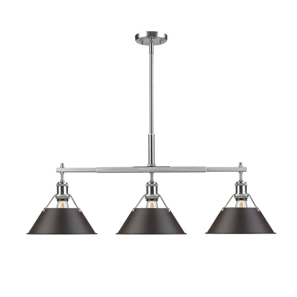Golden 3306-LP PW-RBZ Orwell One Light Linear Pendant