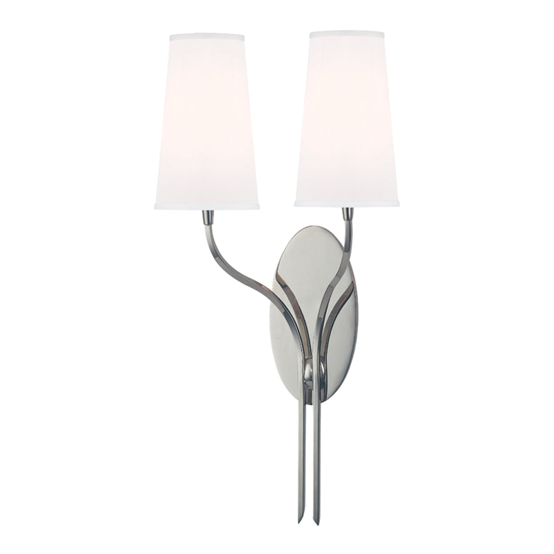 Hudson Valley 3712-PN-WS Rutland Two Light Wall Sconce