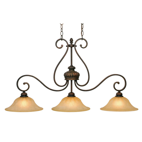 Golden 7116-10 LC Mayfair Three Light Linear Pendant