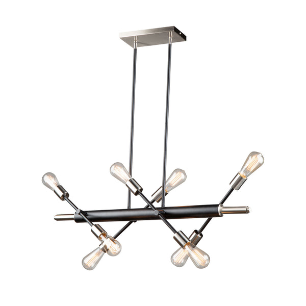 Artcraft AC11254NB Truro Eight Light Island Pendant