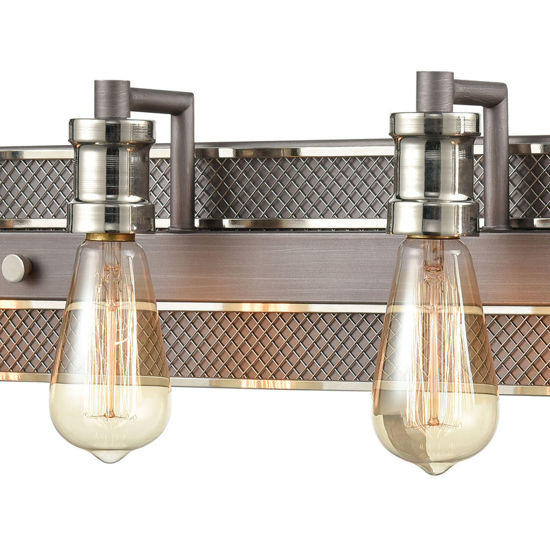 Elk Lighting 15494/4 Gridiron Four Light Vanity