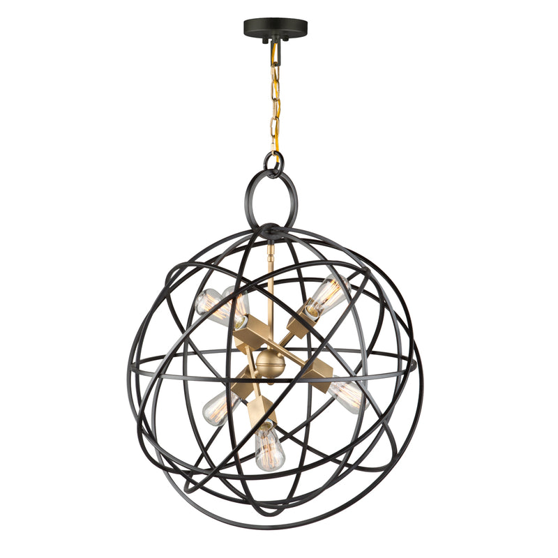 Artcraft AC10956 Orbit Six Light Chandelier