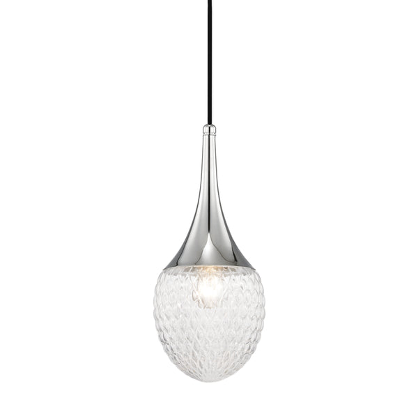 Mitzi H114701A-PN Bella One Light Pendant