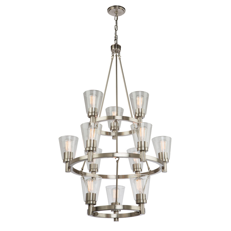 Artcraft AC10762BN Clarence 12 Light Chandelier