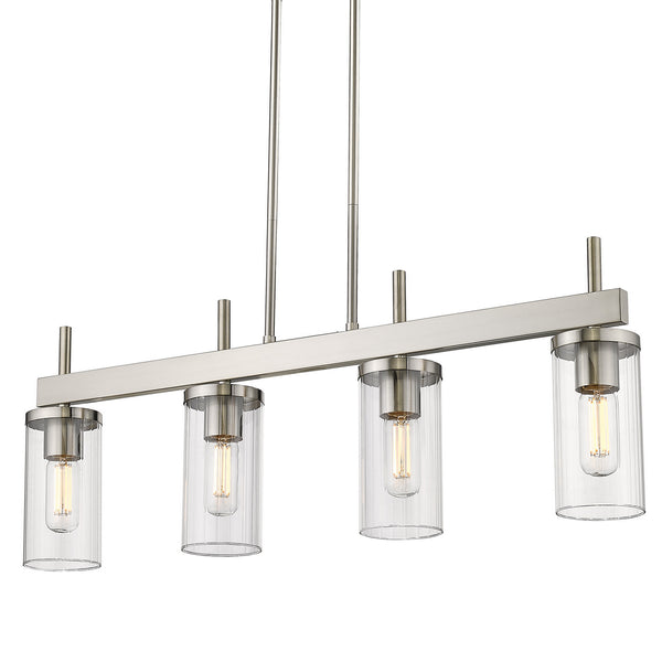 Golden 7011-LP PW-CLR Winslett Four Light Linear Pendant