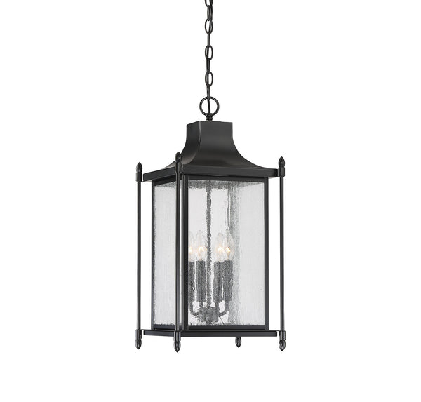 Savoy House 5-3456-BK Dunnmore Four Light Outdoor Hanging Lantern