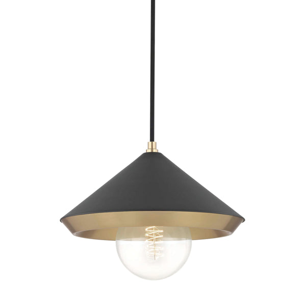 Mitzi H139701L-AGB/BK Marnie One Light Pendant