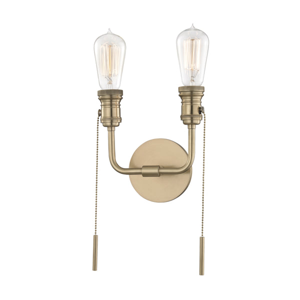 Mitzi H106102-AGB Lexi Two Light Wall Sconce