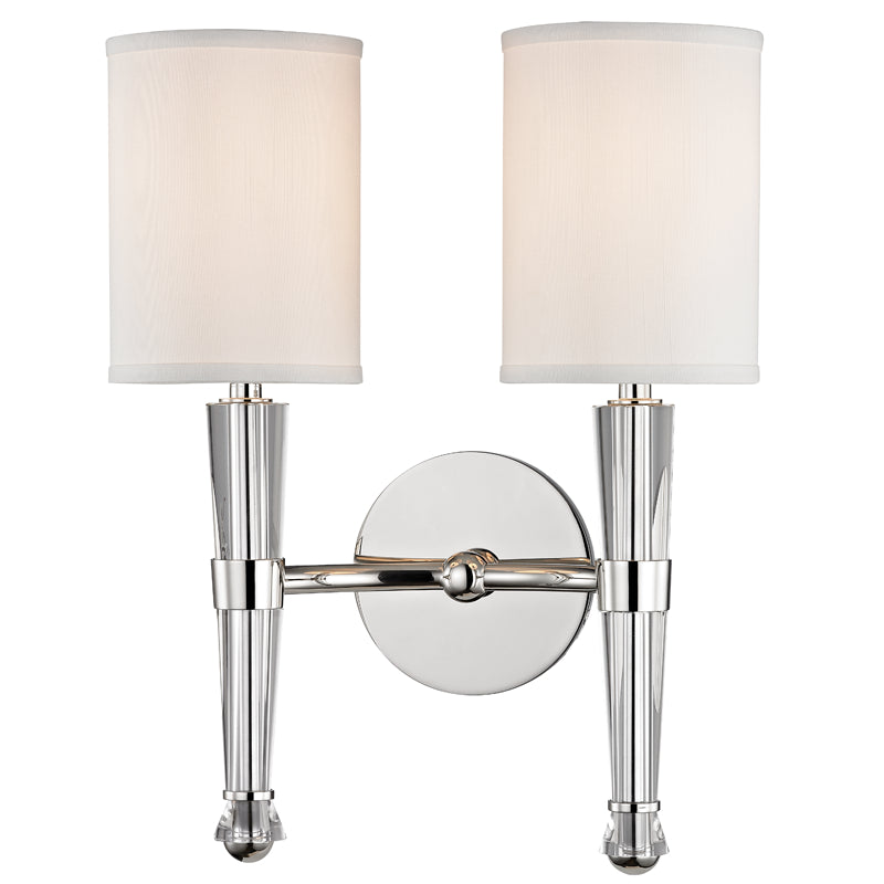 Hudson Valley 4120-PN Volta Two Light Wall Sconce