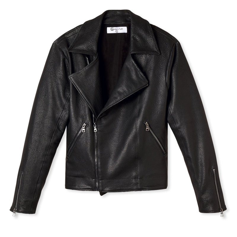 Meet Jonathan / Laser Cut Lambskin Leather Biker Jacket