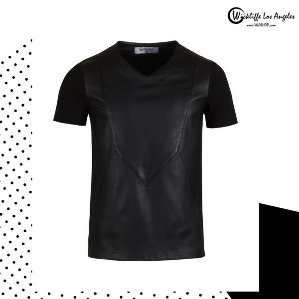 NEW Donovan Leather T-Shirt