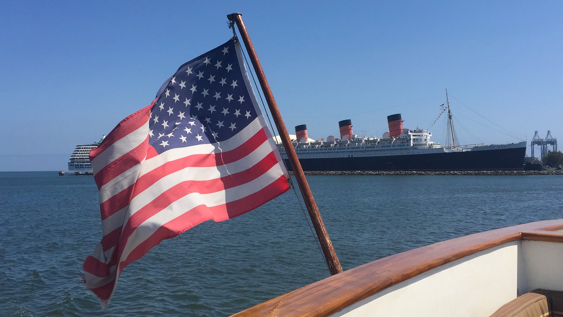 Wickliffe Los Angeles Queen Mary American Flag