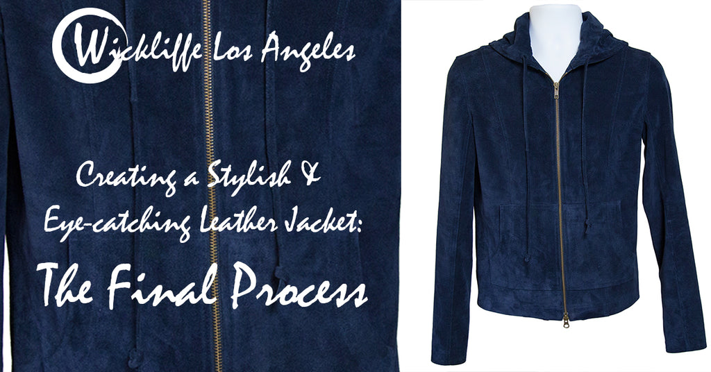 Liam Blue Suede Leather Hoodie Jacket Final Step Banner