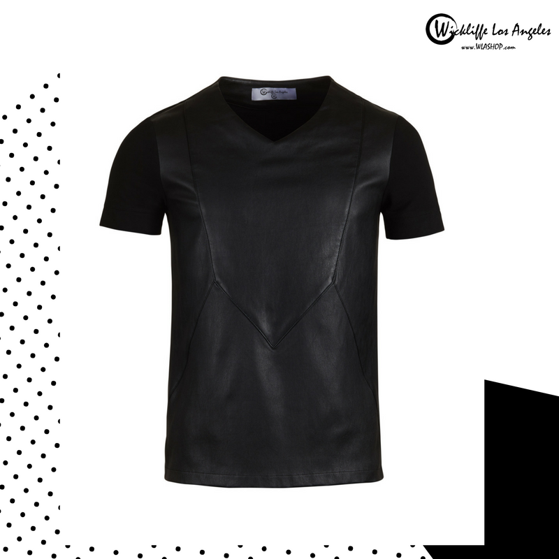 Wickliffe Los Angeles Donovan Leather T-shirt