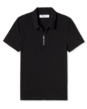 KENNETH JERSEY ZIPPER POLO