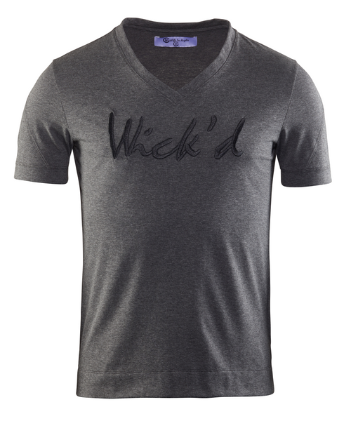 Wick'd Embroidered Shirt Charcoal