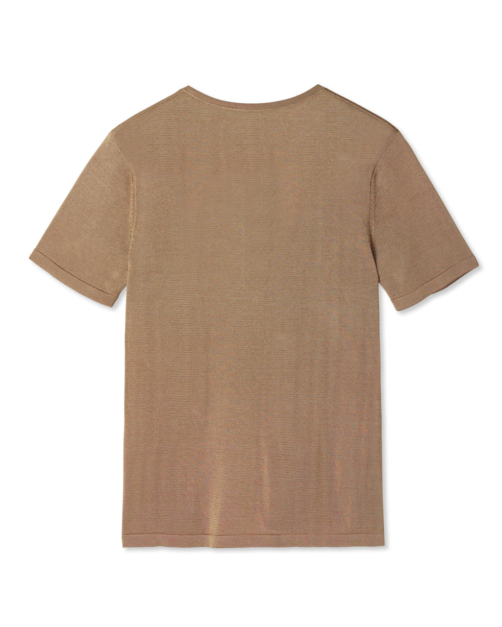 VALEN V-NECK KNIT SHIRT GOLDEN CAMEL