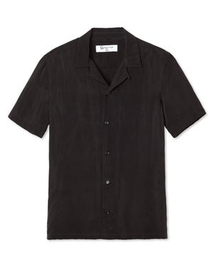 COOPER SHARK BITE COLLAR SHORT SLEEVE SHIRT NOIR