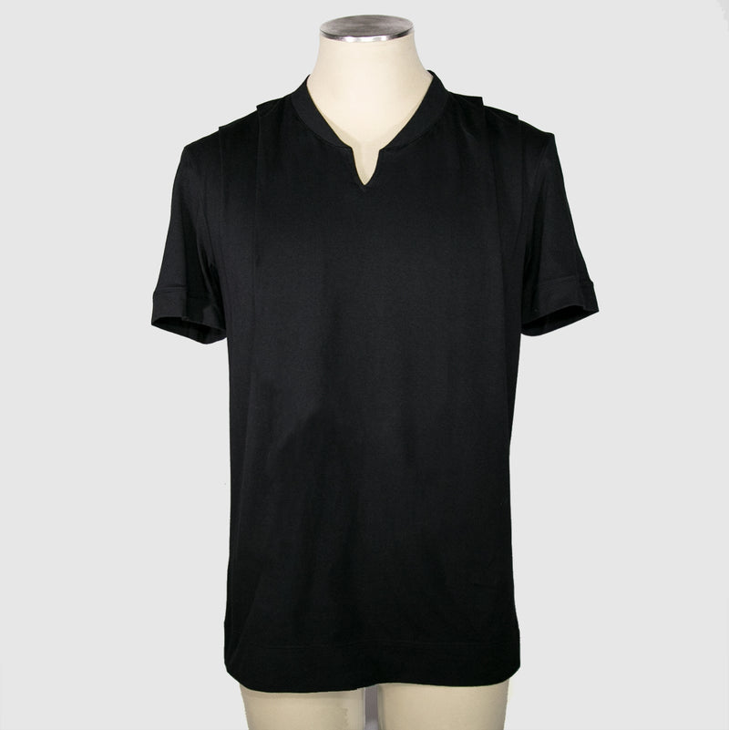 PROSPER DRAPED SHOULDER SHIRT NOIR
