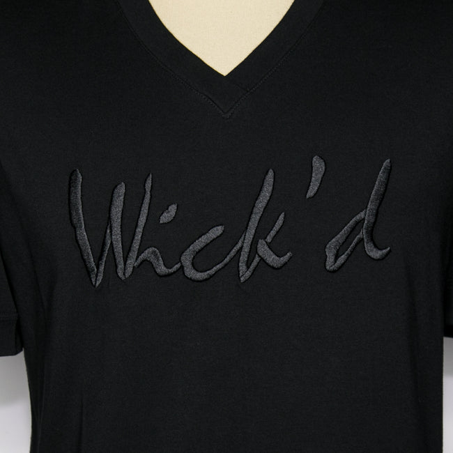 Wick'd Embroidered Shirt Black