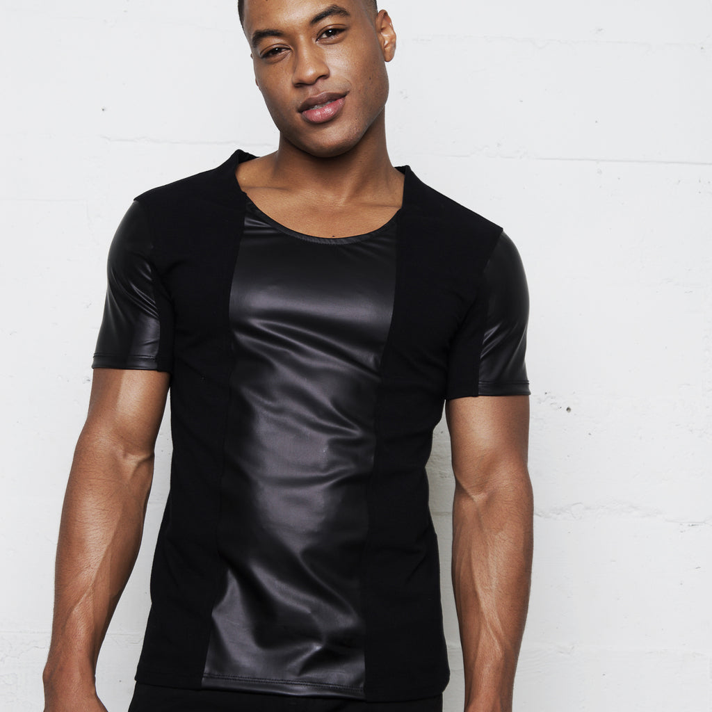 KANE FAUX LEATHER SHIRT