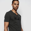 WICKED EMBROIDERED SHIRT TONAL CHARCOAL