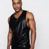 LEONCE FAUX LEATHER TANK TOP